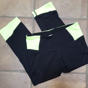 Old Navy Active black and yellow workout capris